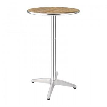 Bolero Ash Round Poseur Height Table 600mm
