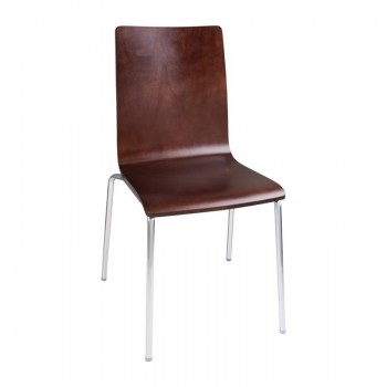 Bolero Square Back Side Chair Dark Chocolate Finish (Pack of 4)
