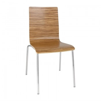 Bolero Square Back Side Chair Zebrano (Pack of 4)