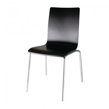 Bolero Black Square Back Side Chair (Pack of 4)
