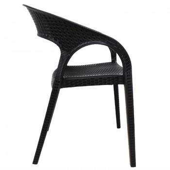 Bolero PP Rattan Wraparound Armchair (Pack of 4)