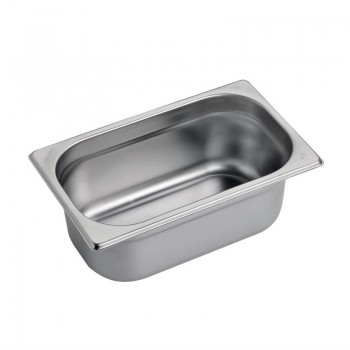 Gastro M Stainless Steel Gastronorm Pan 1/4GN 100mm