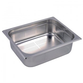 Gastro M Stainless Steel Gastronorm Pan Perforated 1/2GN 100mm
