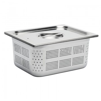 Gastro M Stainless Steel Gastronorm Pan Perforated 1/2GN 150mm