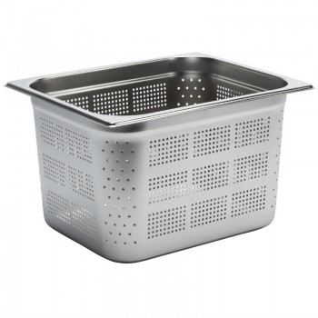 Gastro M Stainless Steel Gastronorm Pan Perforated 1/2GN 200mm