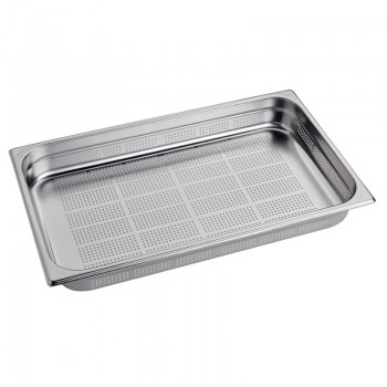 Gastro M Stainless Steel Gastronorm Pan Perforated 1/1GN 65mm