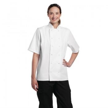 Whites Boston Unisex Short Sleeve Chefs Jacket White  XS