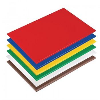 Hygiplas High Density Anti Bacterial Chopping Boards Set Large Set of 6