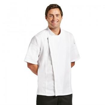 Chef Works Springfield Zipper Mens Chefs Jacket White  M