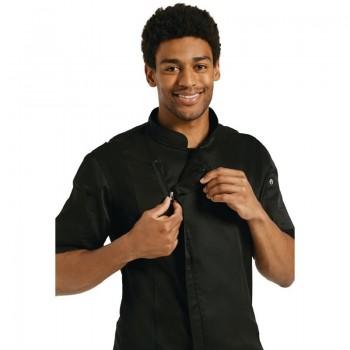 Chef Works Springfield Zipper Mens Chefs Jacket Black L