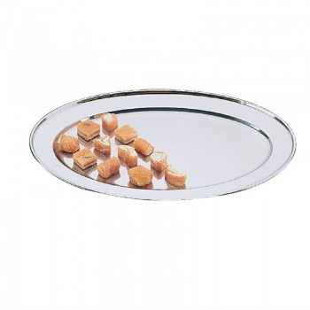 Olympia Stainless Steel Oval Service Tray 350mm