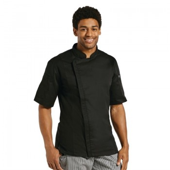 Chef Works Springfield Zipper Mens Chefs Jacket Black M