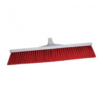 SYR Hygiene Broom Head Soft Bristle Red