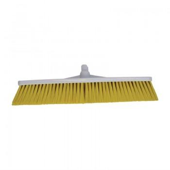 SYR Hygiene Broom Head Soft Bristle Yellow