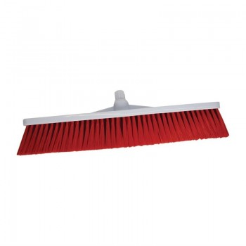 SYR Hygiene Broom Head Stiff Bristle Red