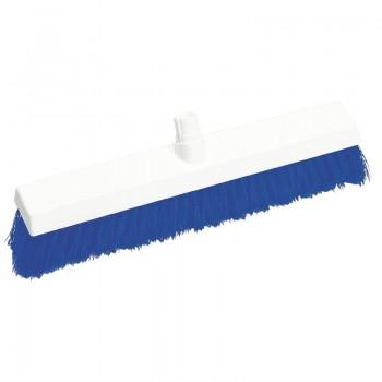SYR Hygiene Broom Head Stiff Bristle Blue