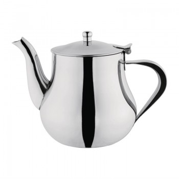 Olympia Arabian Stainless Steel Teapot 1Ltr