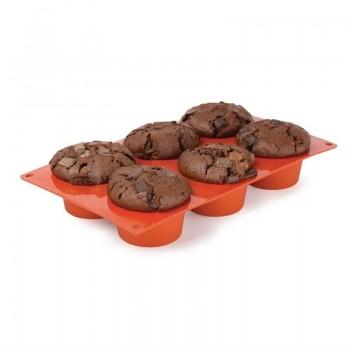 Pavoni Formaflex Silicone Muffin Mould 6 Cup