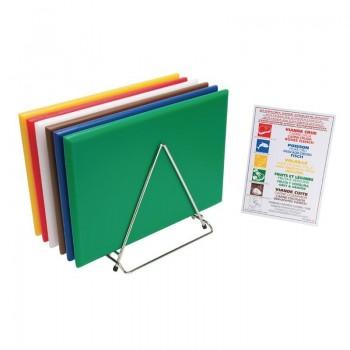 Hygiplas Extra Thick High Density Chopping Board Set