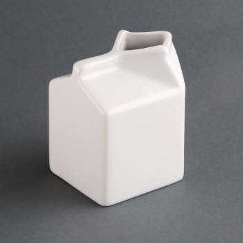 Olympia Whiteware Porcelain Milk Jug Carton 155ml