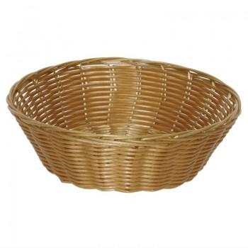 Poly Wicker Round Food Basket