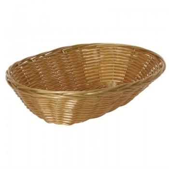 Poly Wicker Oval Food Basket