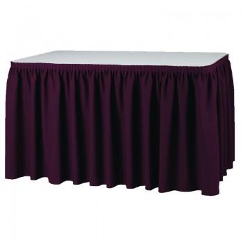 Table Skirting - Bordeaux Plisse Style