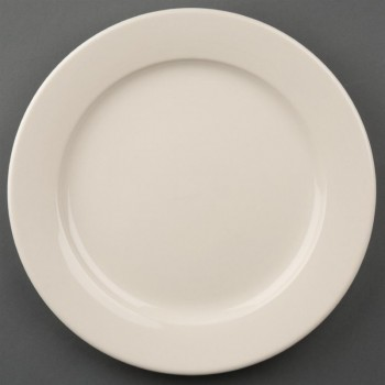Olympia Ivory Wide Rimmed Plates 250mm