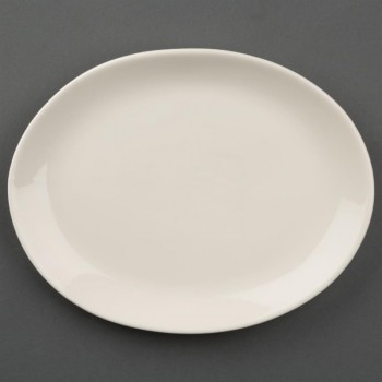Olympia Ivory Oval Coupe Plates 202mm