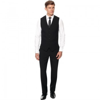 Events Mens Black Waistcoat - Size S
