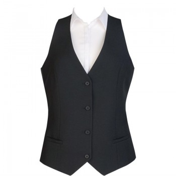 Events Ladies Black Waistcoat - Size L