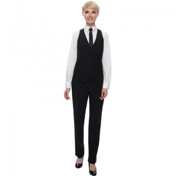 Events Ladies Black Waistcoat - Size S