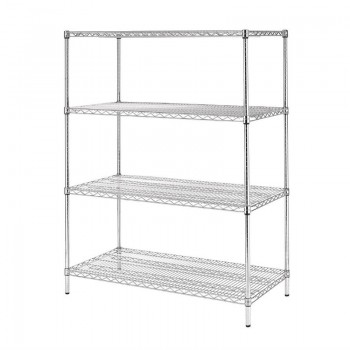 Vogue 4 Tier Wire Shelving Kit 1525x610mm