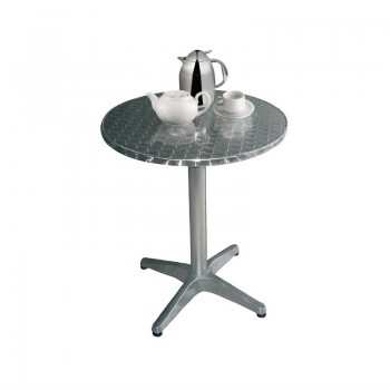 Bolero Round Bistro Table Stainless Steel 800mm
