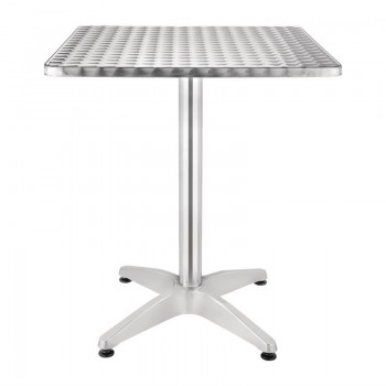 Bolero Square Bistro Table Stainless Steel 600mm