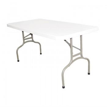 Bolero Rectangular Folding Table 5ft White
