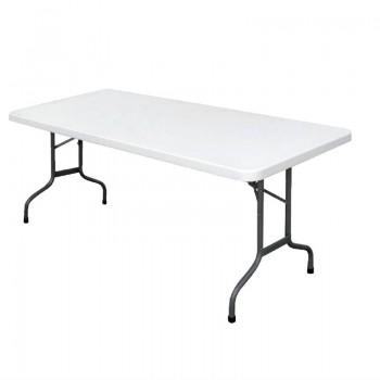 Bolero Rectangular Folding Table 6ft White