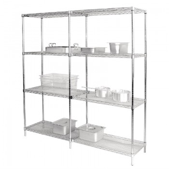 Vogue Chrome Wire Shelves 1525x457mm Pack of 2
