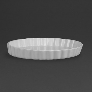 Olympia Whiteware Flan Dishes 297mm