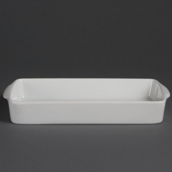 Olympia Whiteware Oblong Roasters 305x 163mm