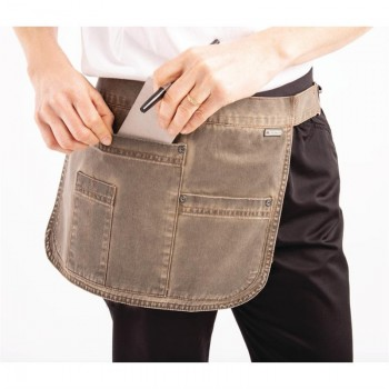 Chef Works Urban Indy Hipster Apron Earth Brown