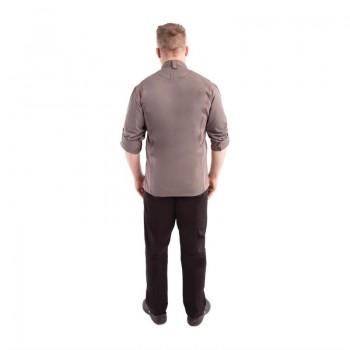 Chef Works Hartford Lightweight L/S Zipper Coat Graphite Size L