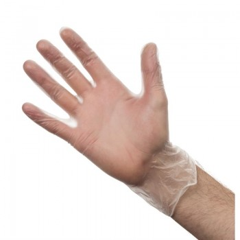 Vogue Powder-Free Vinyl Gloves L