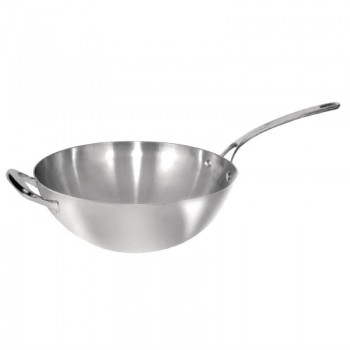 Vogue Tri Wall Wok Flat Base 305mm
