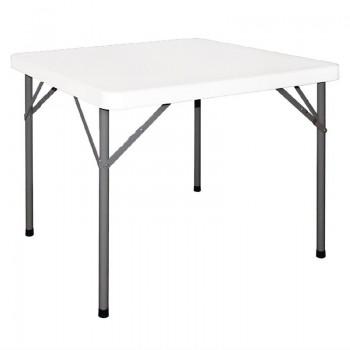 Bolero Square Folding Table 3ft White