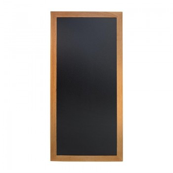 Securit Slim Wall Mounted Blackboard 1200 x 560mm Teak