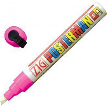 Zig Posterman Pink Chalk Marker  6mm Tip