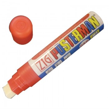 Zig Posterman Red Chalk Marker 6mm Tip