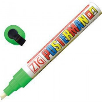 Zig Posterman Green Chalk Marker 6mm Tip