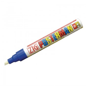Zig Posterman Blue Chalk Marker 6mm Tip